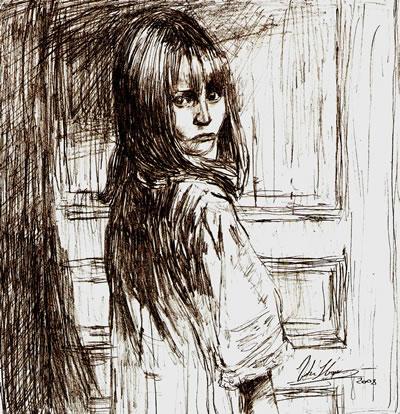 Alice - lápis de grafite sobre papel