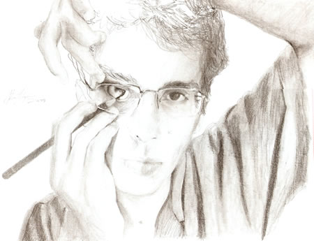 Drawing me - graphite pencil on paper