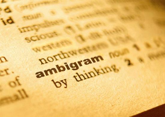 """Termo """"ambigram"""" adicionado aos..."""